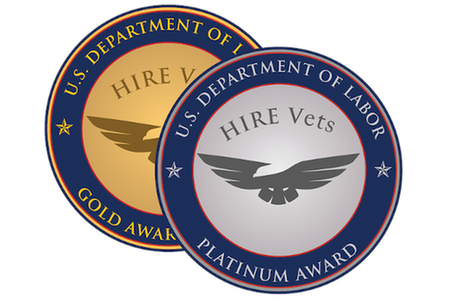 SCIS RECEIVES 2020 HIRE VETS MEDALLION AWARD FROM U.S. DEPARTMENT OF LABOR